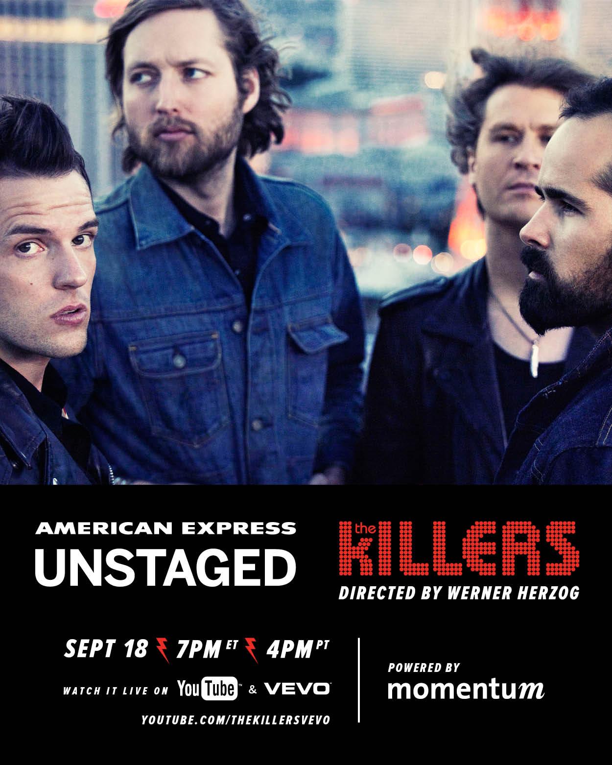 Il 18 Settembre la band suonerà per AMEX Unstaged