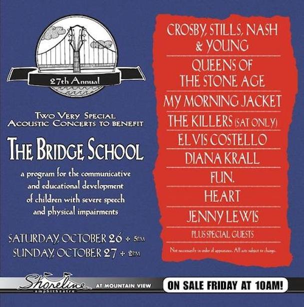 La band annulla la presenza al Bridge School Benefit Concert