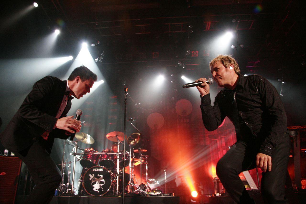 Brandon e Dave ospiti del concerto dei Duran Duran