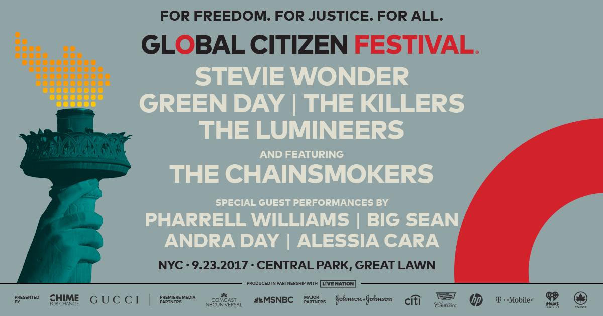 I Killers headliner del Global Citizen Festival a New York