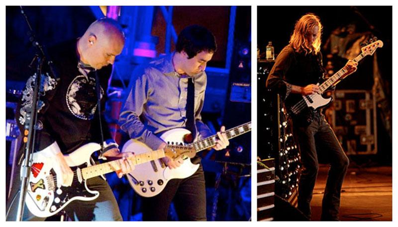 Mark sul palco per il tour promozionale degli Smashing Pumpkins