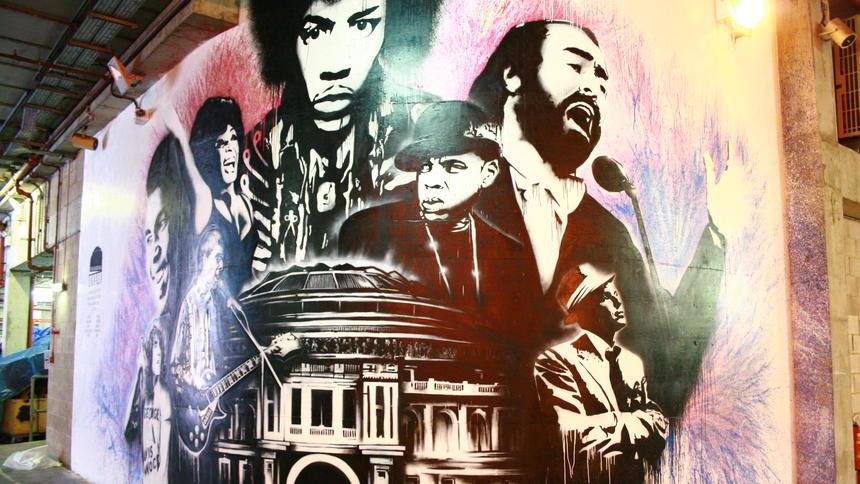 Un graffiti dei Killers alla Royal Albert Hall