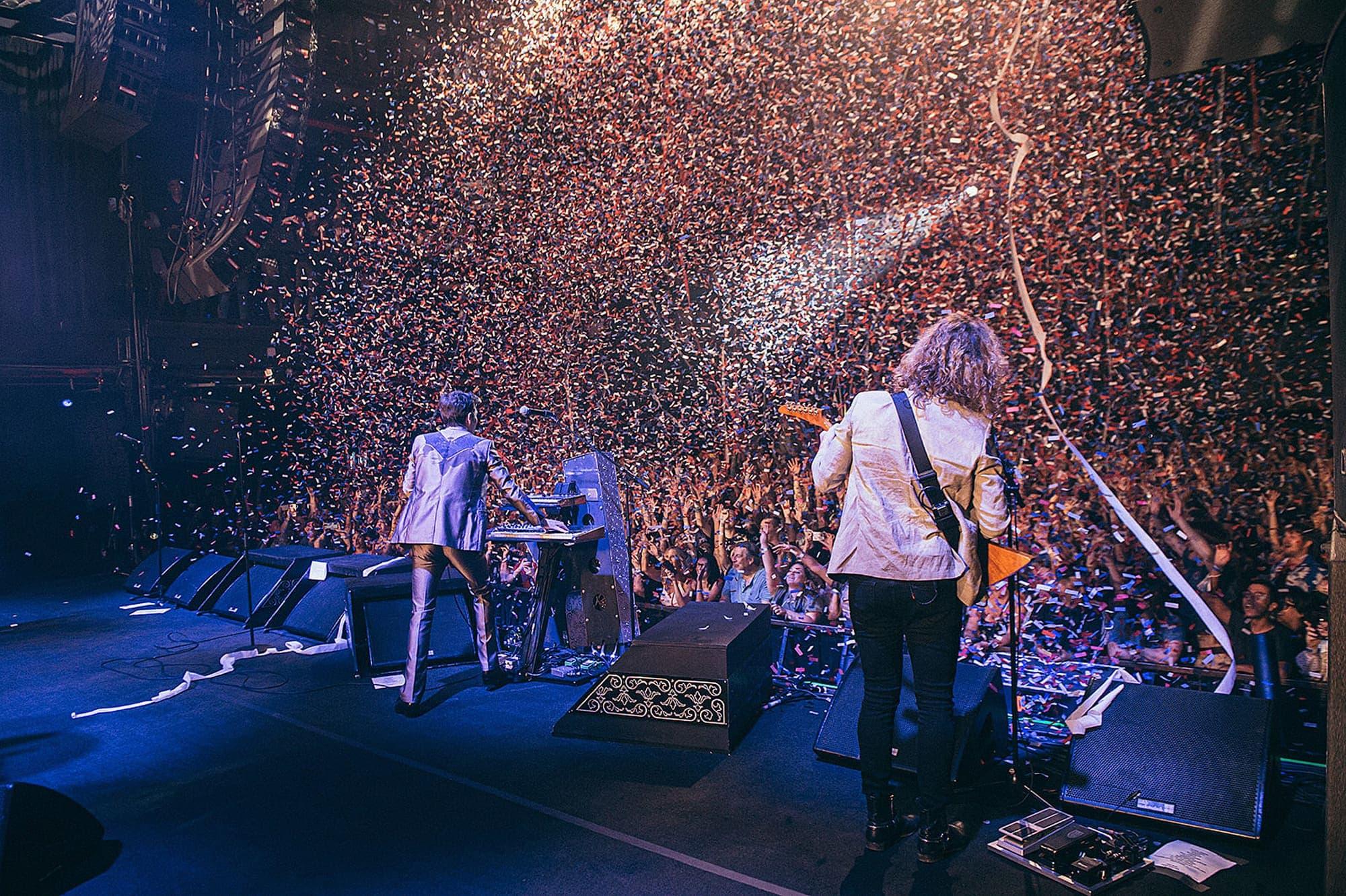 La band di nuovo sul palco dopo più di un anno e mezzo