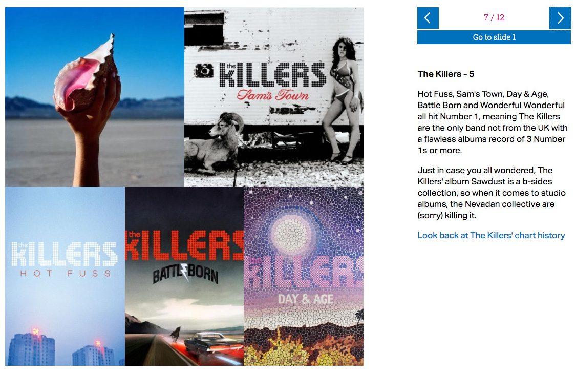 UK Charts – The Killers